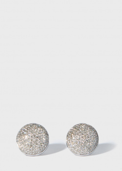 Круглые серьги-пусеты Zarina Sparkling Eyes с бриллиантами (0,93 ct), фото