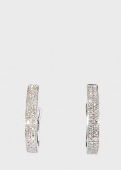 Серьги Zarina Sparkling Eyes с бриллиантовой дорожкой, фото