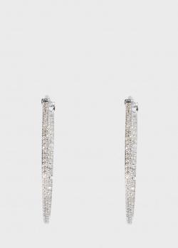 Серьги-кольца Zarina Sparkling Eyes с бриллиантами, фото