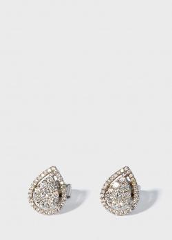 Пусеты Zarina Your Grace с белыми бриллиантами, фото