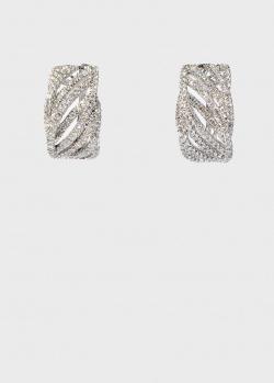 Золотые серьги Zarina Sparkling Eyes с бриллиантовой дорожкой, фото