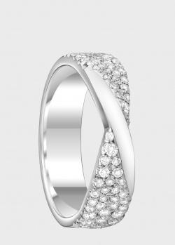 Обручальное кольцо из белого золота Art Vivace Jewelry с россыпью бриллиантов, фото