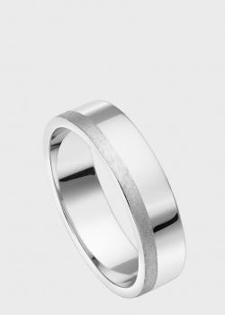 Обручальное кольцо из белого золота Art Vivace Jewelry с полоской, фото