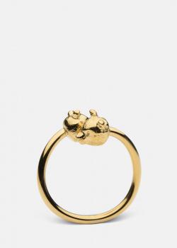 Позолоченное кольцо Skultuna Nordic Wildlife Bear с медведями, фото