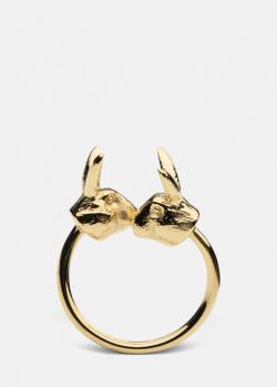 Незамкнутое кольцо Skultuna Nordic Wildlife Hare с зайцами, фото
