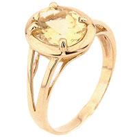 Кольцо из красного золота Диамант с цитрином, фото