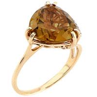 Кольцо из красного золота с султанитом, фото