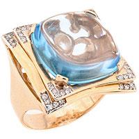 Кольцо из красного золота с ажурным рантом, фото