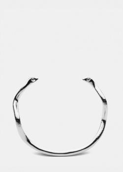 Незамкнутый браслет Skultuna Snake из полированной стали, фото