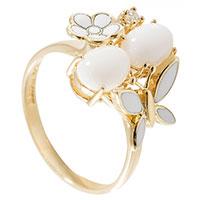Золотое кольцо Roberto Bravo с бабочкой с эмалью, фото