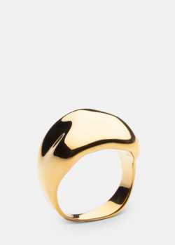 Широкое кольцо Skultuna Chunky с позолотой, фото