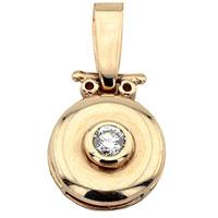 Подвеска из красного золота с белым бриллиантом, фото