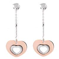 Серебряные серьги Nomination Incanto с розовой позолотой, фото
