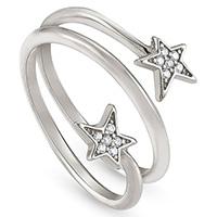 Широкое кольцо Nomination Stella с двумя звездами и цирконами, фото