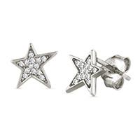 Серебряные гвоздики Nomination Stella в форме звезд, фото