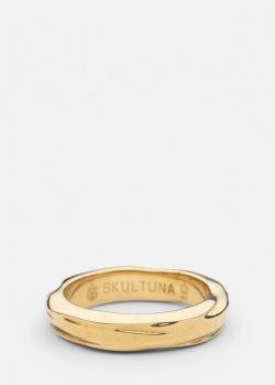 Фактурное кольцо Skultuna Opaque Object с позолотой, фото
