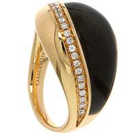 Кольцо Chimento Preziosa с обсидианом и бриллиантами, фото