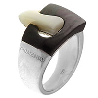 Серебряное кольцо Chimento Avantgarde с перламутром, фото