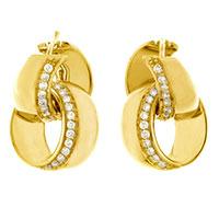 Золотые серьги Chimento с бриллиантами, фото