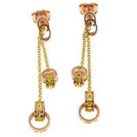 Серьги-цепочки Chimento из желтого и розового золота, фото