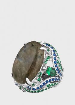 Перстень Poche Rita с крупным лабрадоритом, фото
