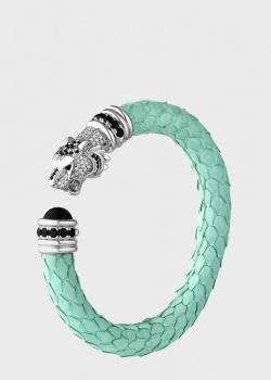 Разомкнутый браслет Poche Tiger мятного цвета, фото