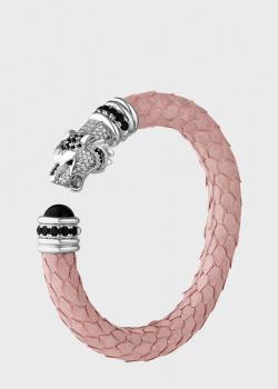 Розовый браслет Poche Tiger из кожи, фото
