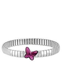 Браслет Nomination Butterfly из нержавеющей стали в сочетании с камнями Svarovski в виде бабочки, фото
