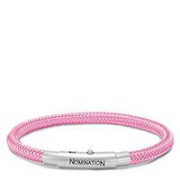 Браслет Nomination You-Cool в виде жгута розового цвета , фото
