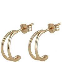 Серьги Aran Jewels с позолотой в виде полумесяцев, фото