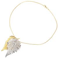 Подвеска Ester Bijoux Filigree Birch из двух березовых листочков в золоте и серебре, фото