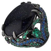 Кольцо Poche Rita с крупным цирконием, фото