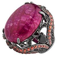 Кольцо Poche Rita темно-малинового цвета, фото
