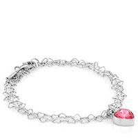 Браслет Nomination Love с розовым сердцем , фото