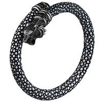 Браслет Poche Tiger графитового цвета с черными циркониями, фото