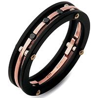 Черное кольцо Baraka Diamonds из розового золота, фото