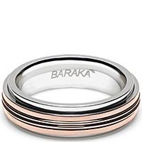 Мужское кольцо Baraka из розового золота и нержавеющей стали, фото