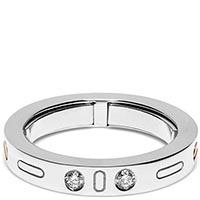 Мужское кольцо Baraka Diamonds из белого золота с белыми бриллиантами, фото