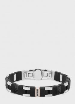 Мужской браслет Baraka с черными бриллиантами, фото