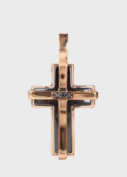 Крестик-подвес Baraka с бриллиантами черного цвета, фото