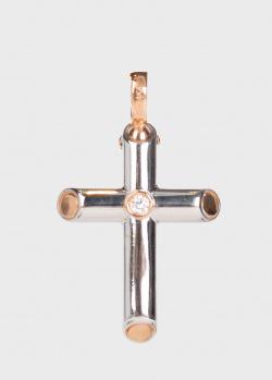 Крестик из золота Baraka с бриллиантом, фото