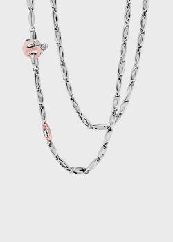 Мужская цепь Baraka Nexus из белого и розового золота, фото