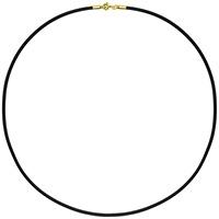 Черный шнурок Baraka с застежкой из золота, фото