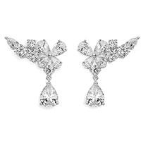 Серебряные серьги Comete Farfalle в виде бабочек, фото