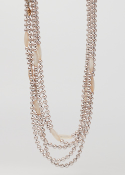 Многослойное ожерелье Max Mara Weekend Negus с имитацией жемчуга, фото
