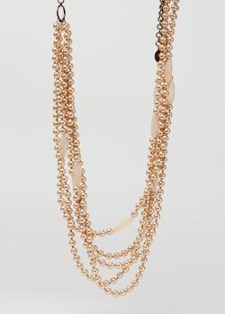 Ожерелье Max Mara Weekend с бежевыми бусинами, фото