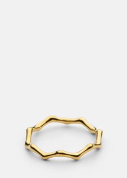 Тонкое кольцо Skultuna Bambou с позолотой, фото