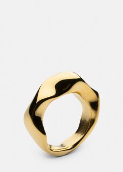 Позолоченное кольцо Skultuna Chunky изогнутой формы , фото