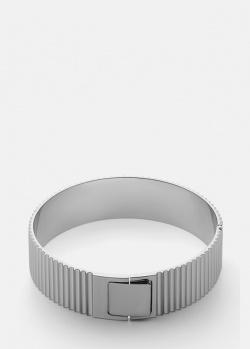 Широкий браслет Skultuna Ribbed Clasp из рифленной слали, фото