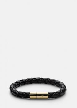Кожаный браслет Skultuna с гравировкой бренда, фото
